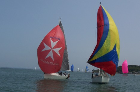 Spinnakers in the Solent